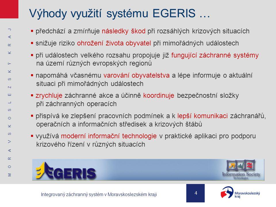 Výhody využití systému EGERIS …
