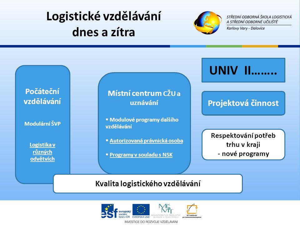 Logistické vzdělávání dnes a zítra