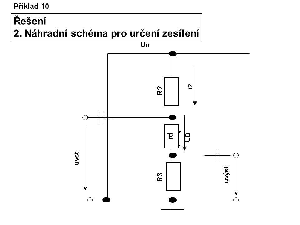 2. Náhradní schéma pro určení zesílení