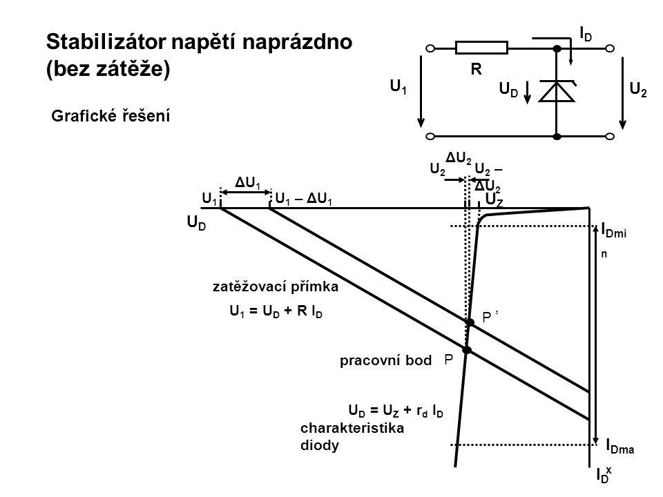 Stabilizátor napětí naprázdno (bez zátěže)