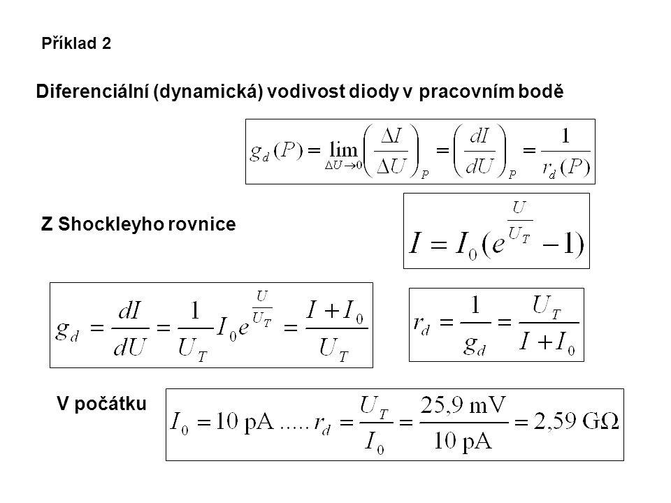 Diferenciální (dynamická) vodivost diody v pracovním bodě