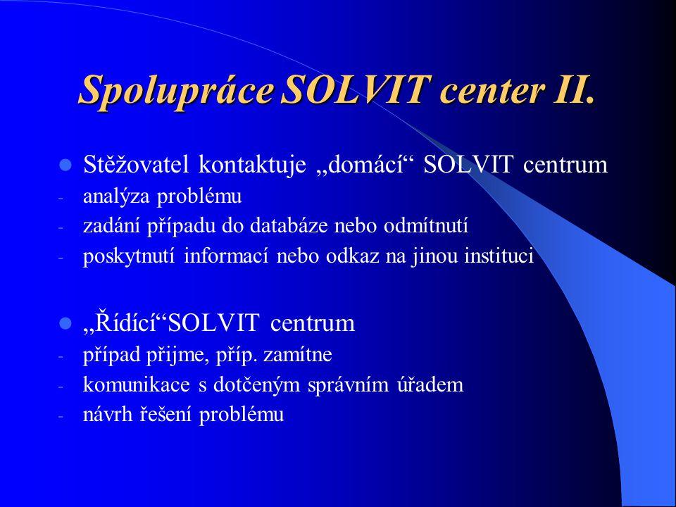 Spolupráce SOLVIT center II.