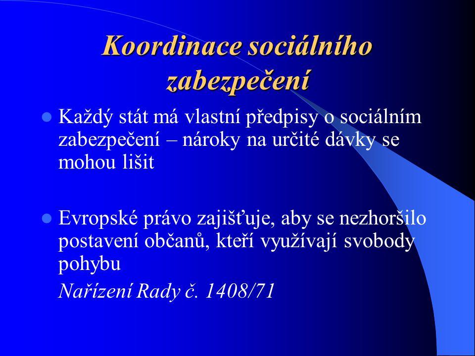 Koordinace sociálního zabezpečení