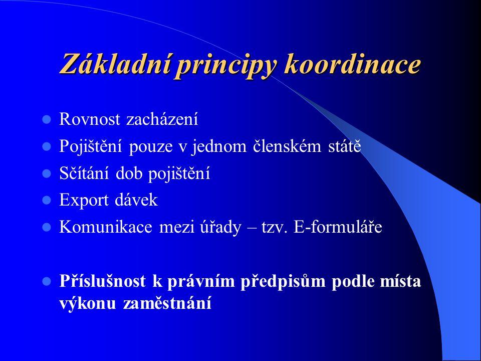 Základní principy koordinace