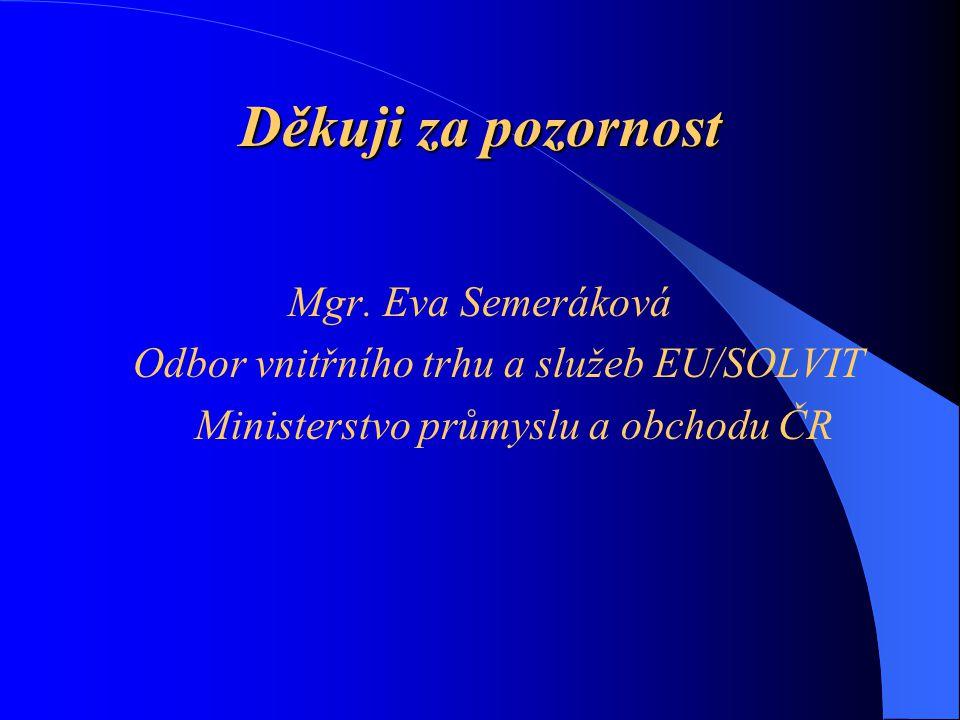 Děkuji za pozornost Mgr. Eva Semeráková