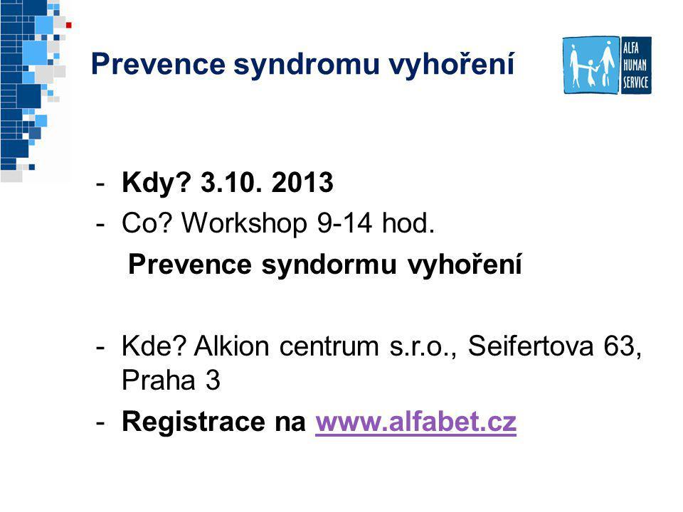 Prevence syndromu vyhoření