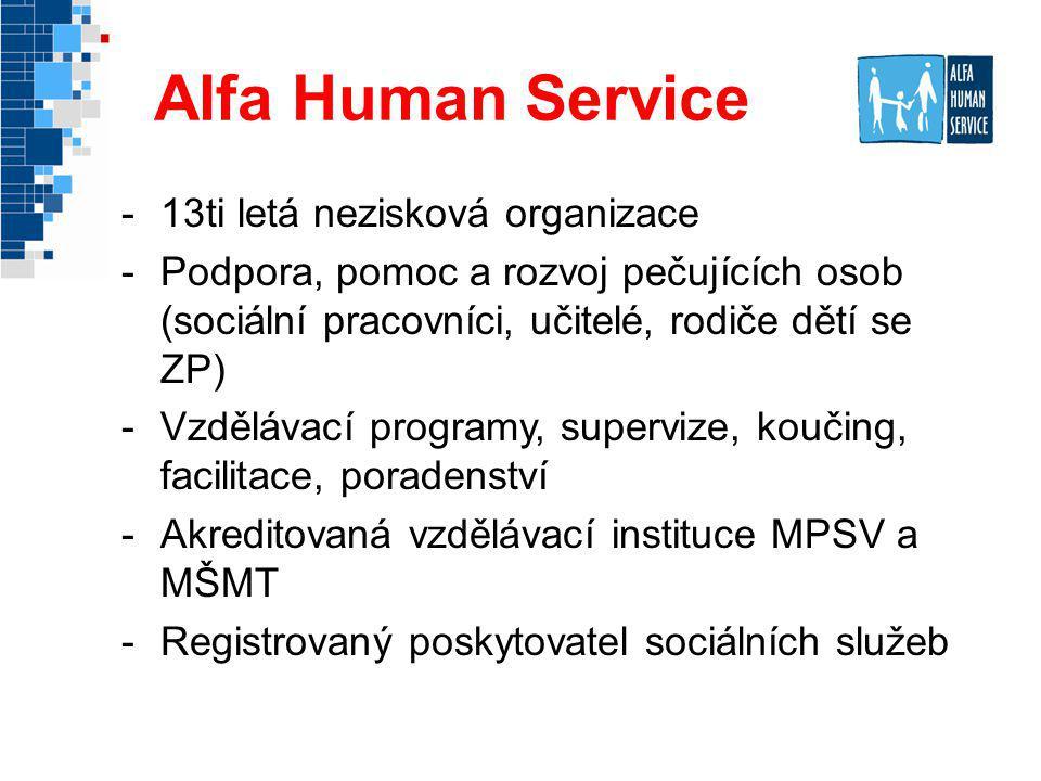 Alfa Human Service 13ti letá nezisková organizace