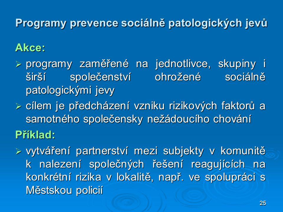 Programy prevence sociálně patologických jevů