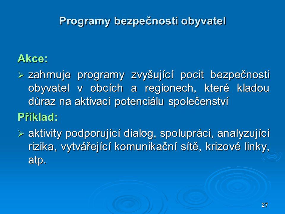 Programy bezpečnosti obyvatel