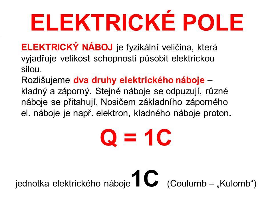 """jednotka elektrického náboje1C (Coulumb – """"Kulomb )"""