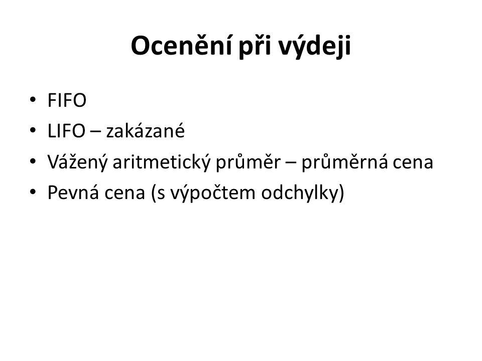 Ocenění při výdeji FIFO LIFO – zakázané
