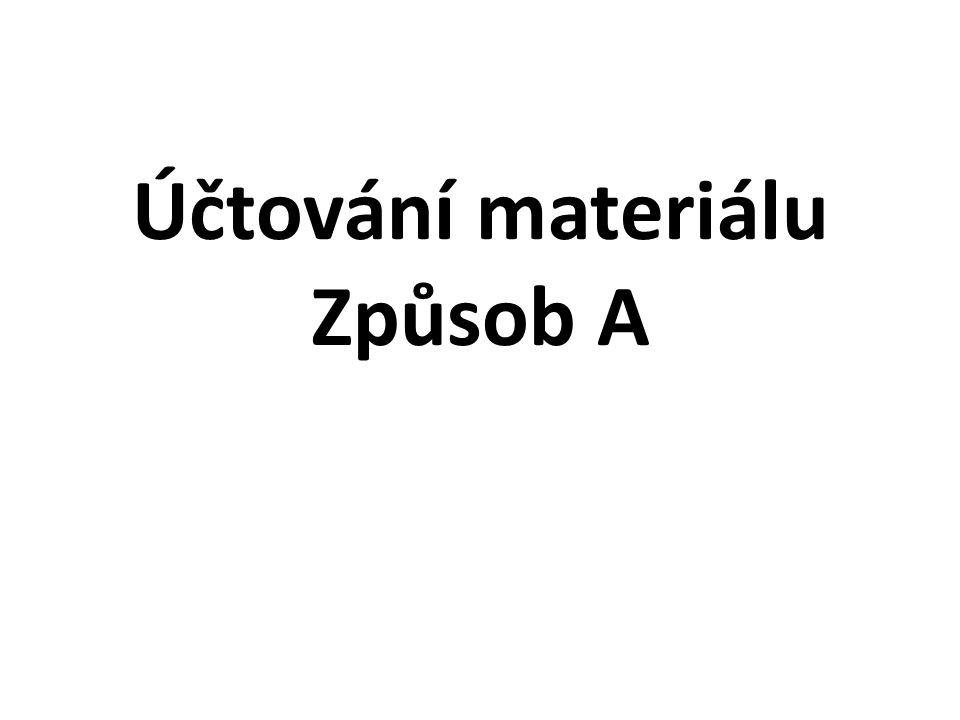 Účtování materiálu Způsob A