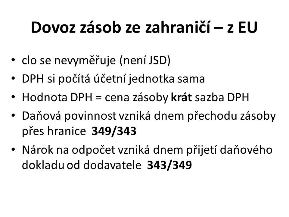 Dovoz zásob ze zahraničí – z EU
