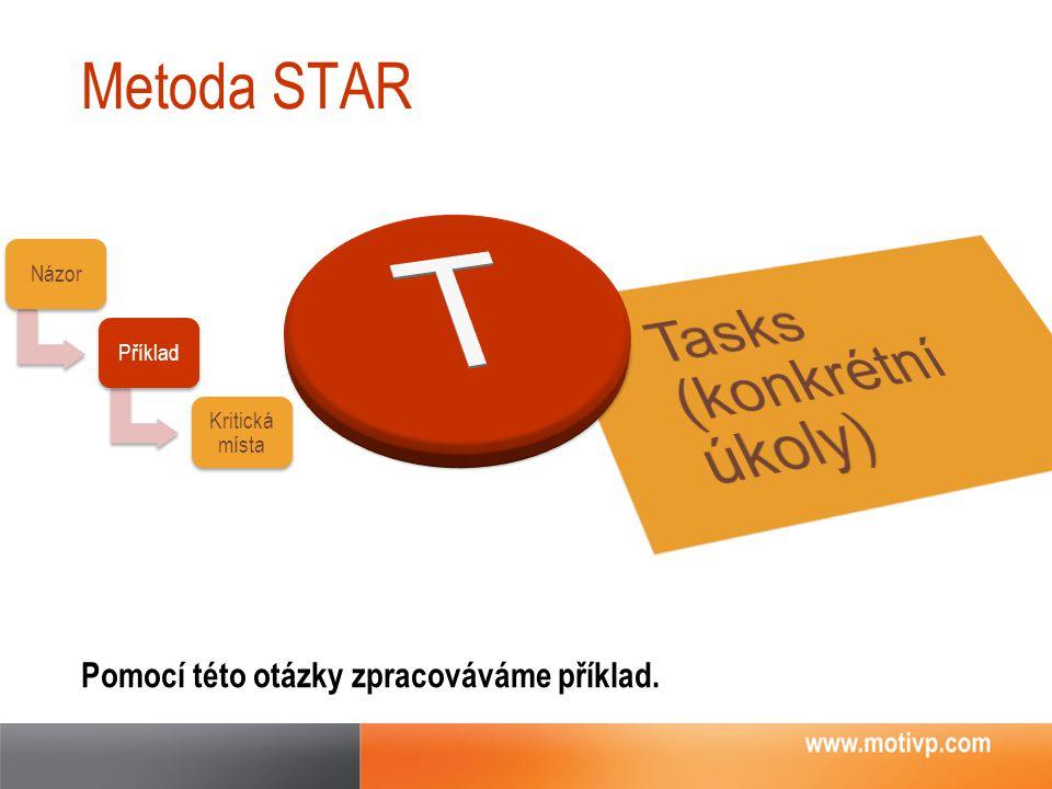 T Tasks (konkrétní úkoly) Metoda STAR