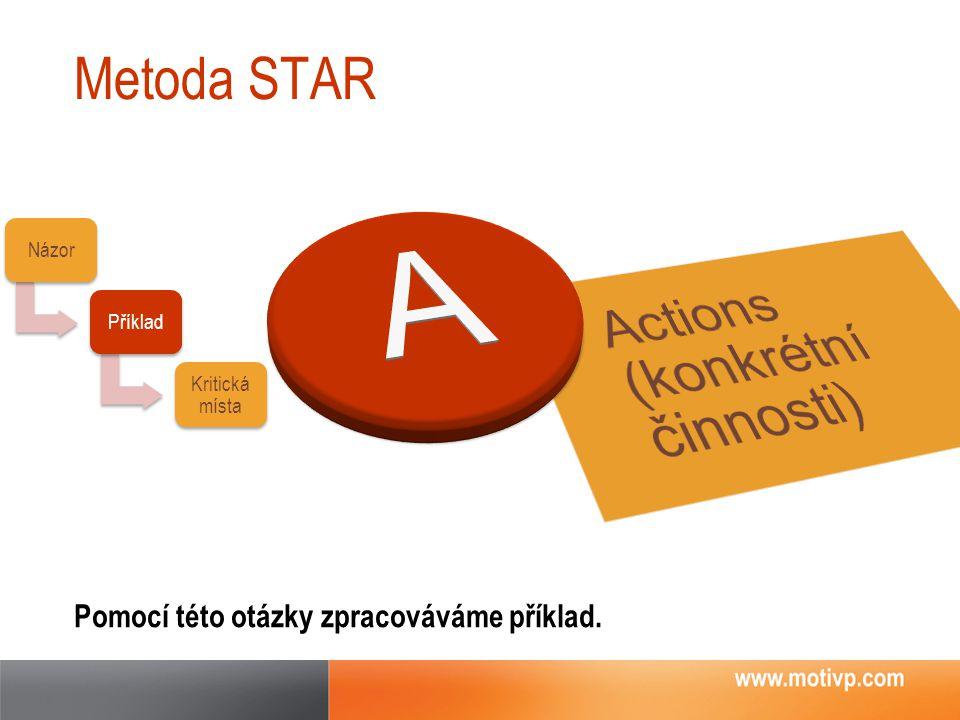 A Actions (konkrétní činnosti) Metoda STAR