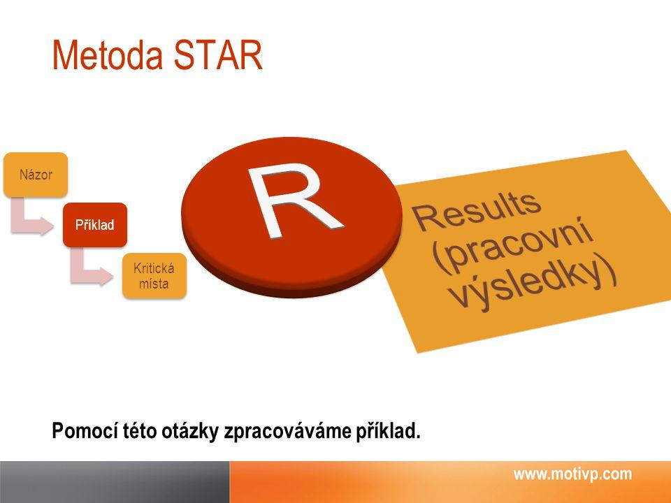R Results (pracovní výsledky) Metoda STAR