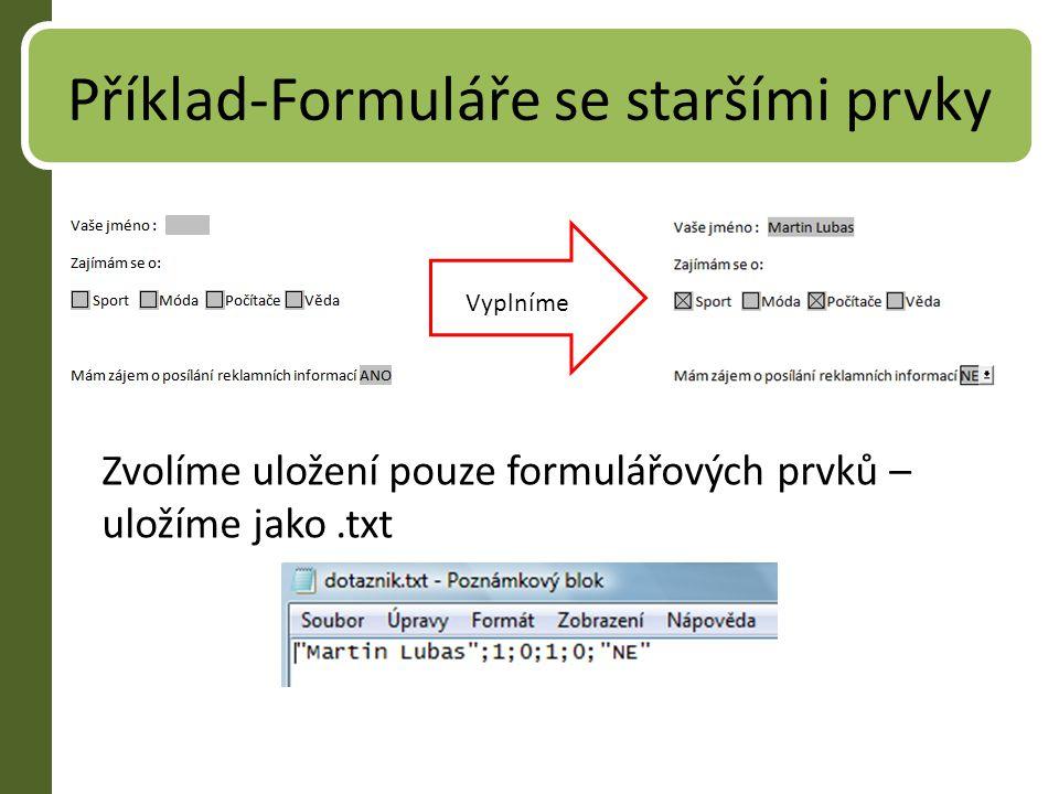 Příklad-Formuláře se staršími prvky