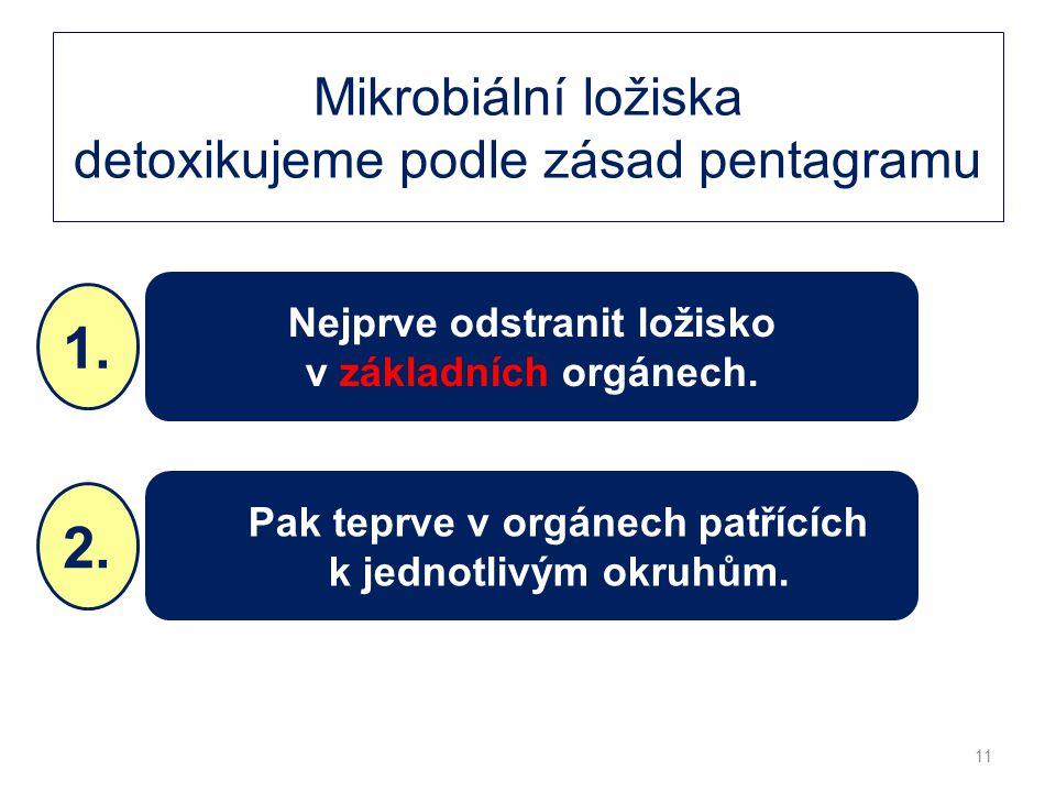 Mikrobiální ložiska detoxikujeme podle zásad pentagramu
