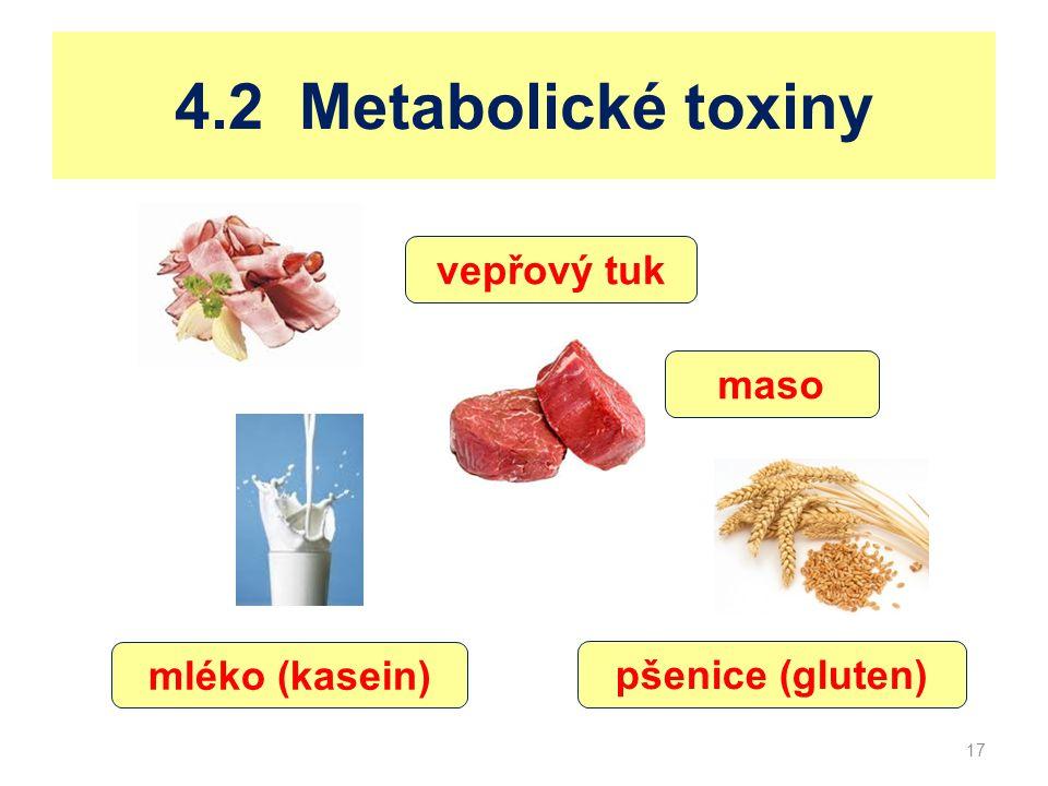 4.2 Metabolické toxiny vepřový tuk maso mléko (kasein)