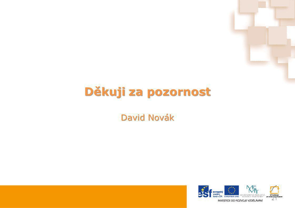 Děkuji za pozornost David Novák