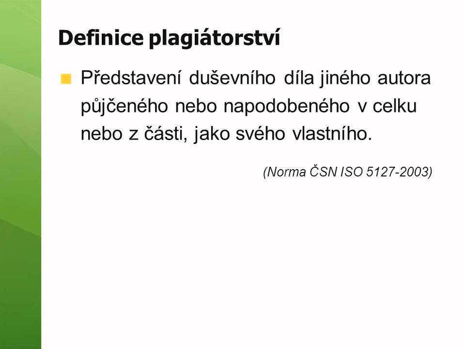 Definice plagiátorství