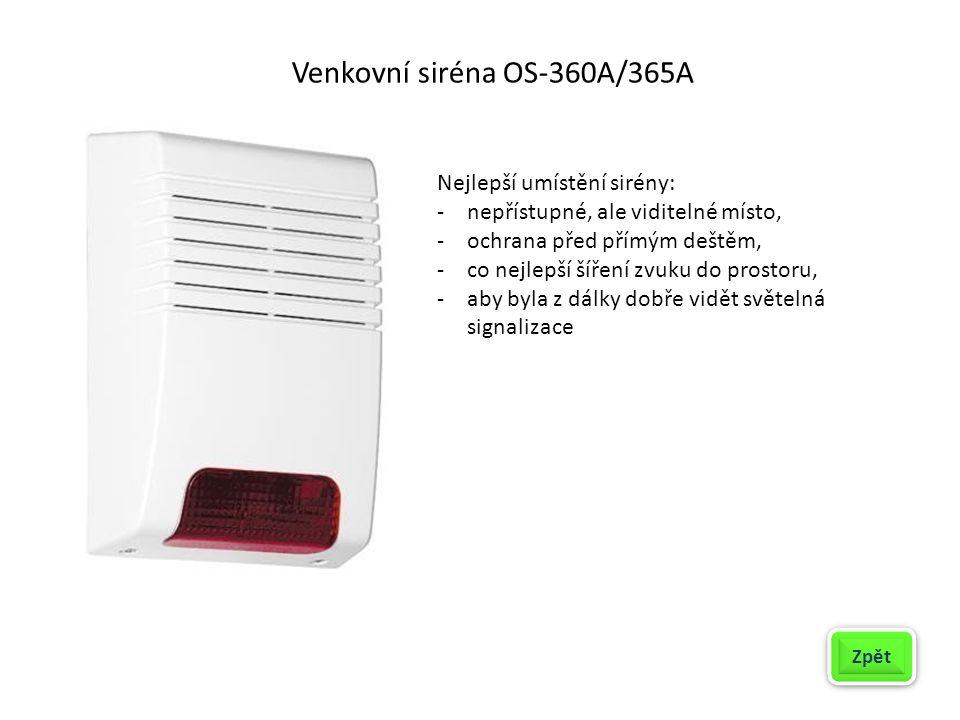 Venkovní siréna OS-360A/365A
