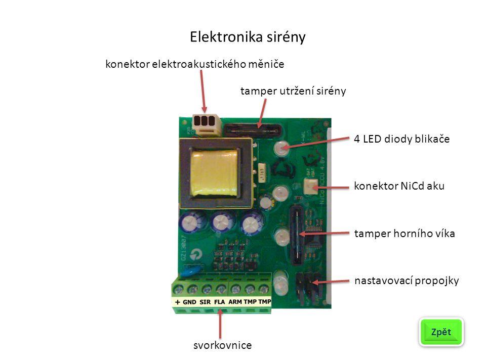 Elektronika sirény konektor elektroakustického měniče