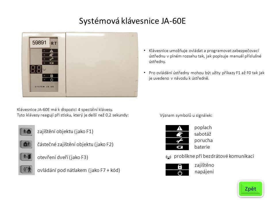 Systémová klávesnice JA-60E