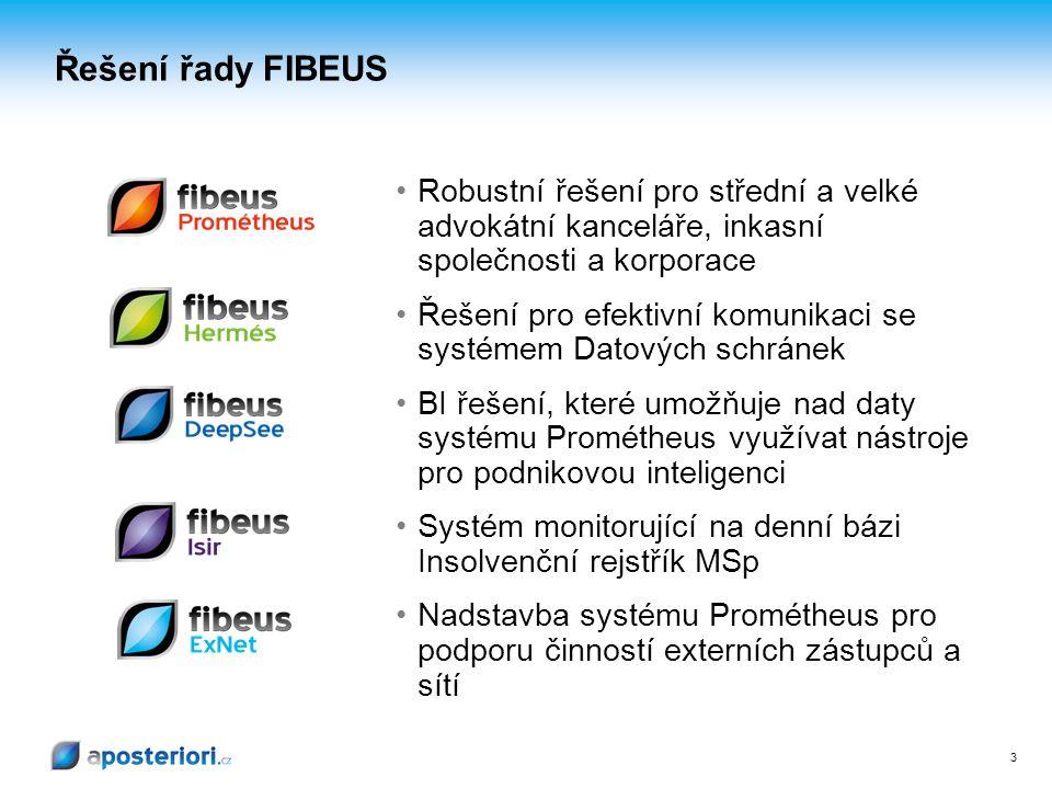 Řešení řady FIBEUS Robustní řešení pro střední a velké advokátní kanceláře, inkasní společnosti a korporace.