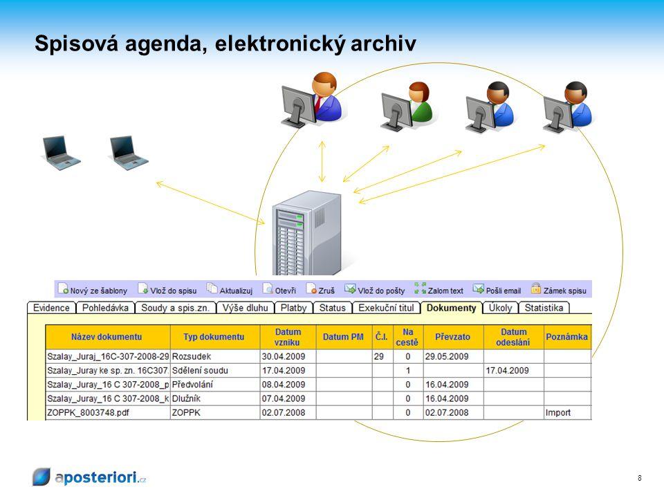 Spisová agenda, elektronický archiv