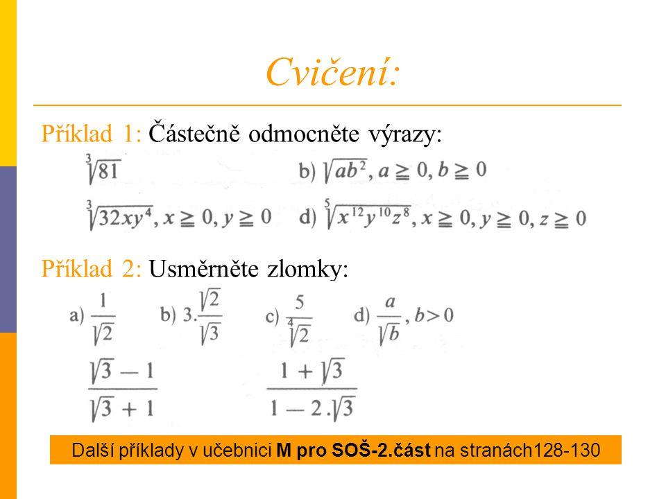 Další příklady v učebnici M pro SOŠ-2.část na stranách128-130