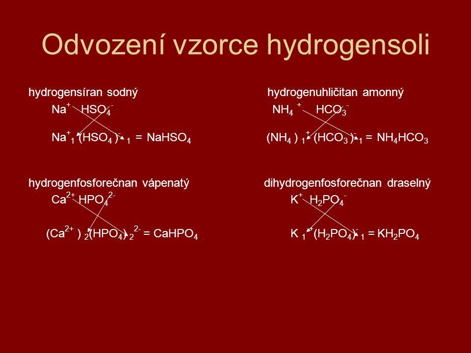 Odvození vzorce hydrogensoli