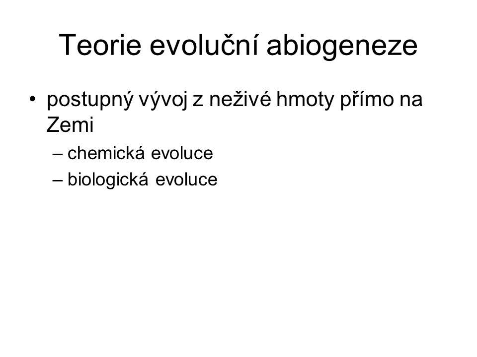 Teorie evoluční abiogeneze