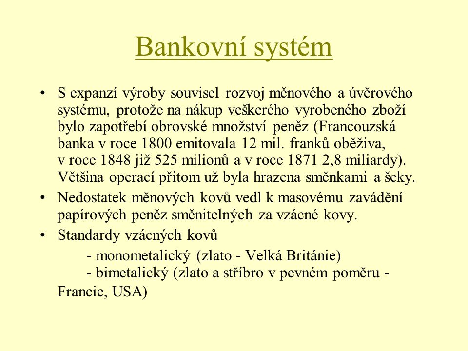 Bankovní systém