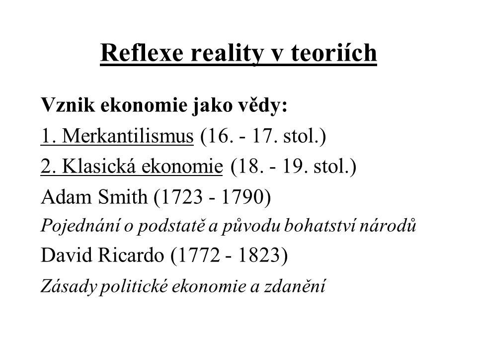 Reflexe reality v teoriích