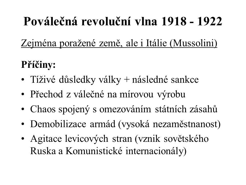 Poválečná revoluční vlna 1918 - 1922