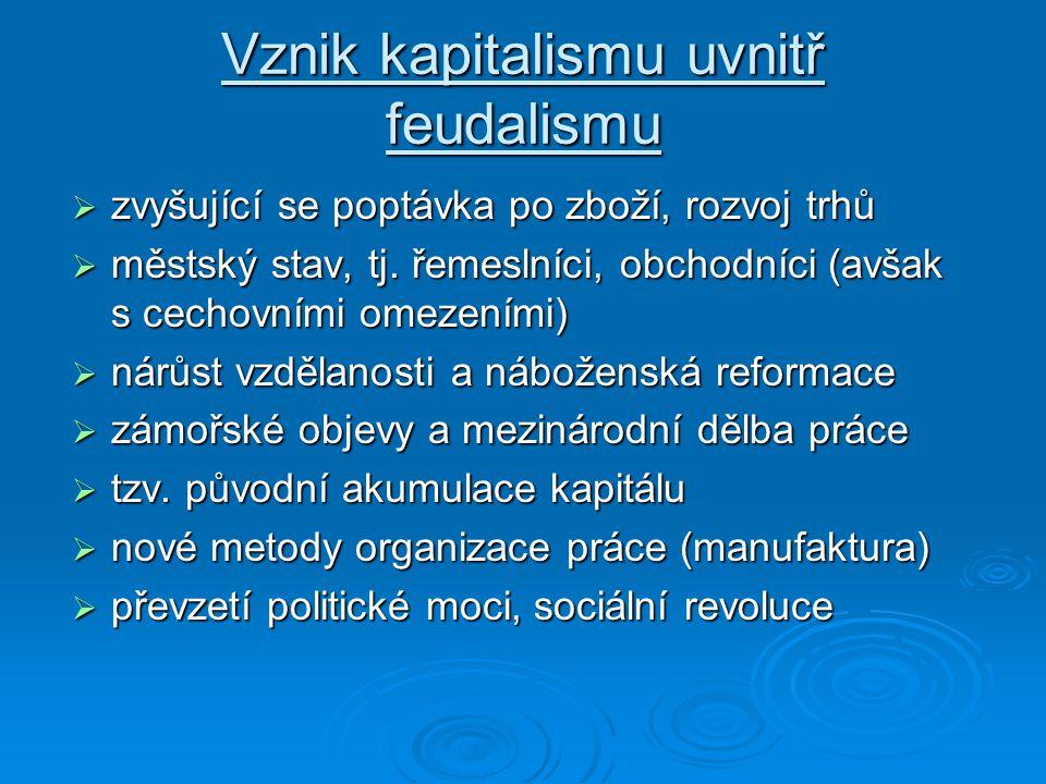 Vznik kapitalismu uvnitř feudalismu