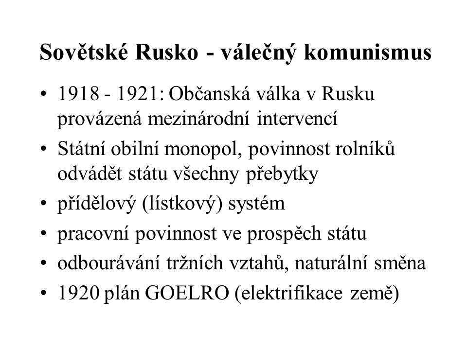 Sovětské Rusko - válečný komunismus