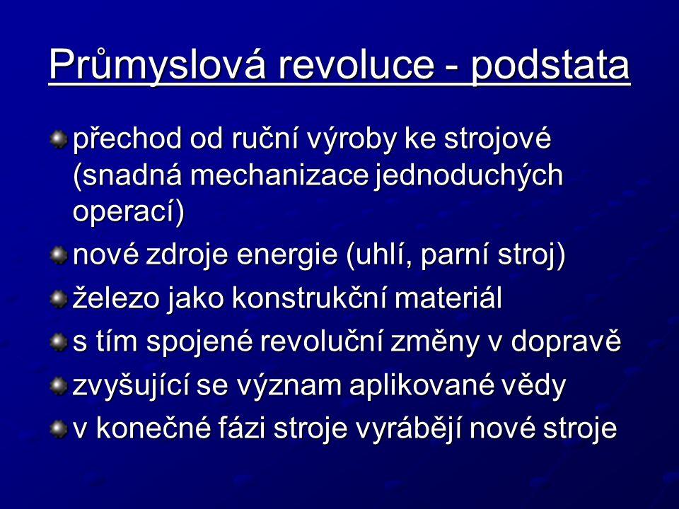 Průmyslová revoluce - podstata