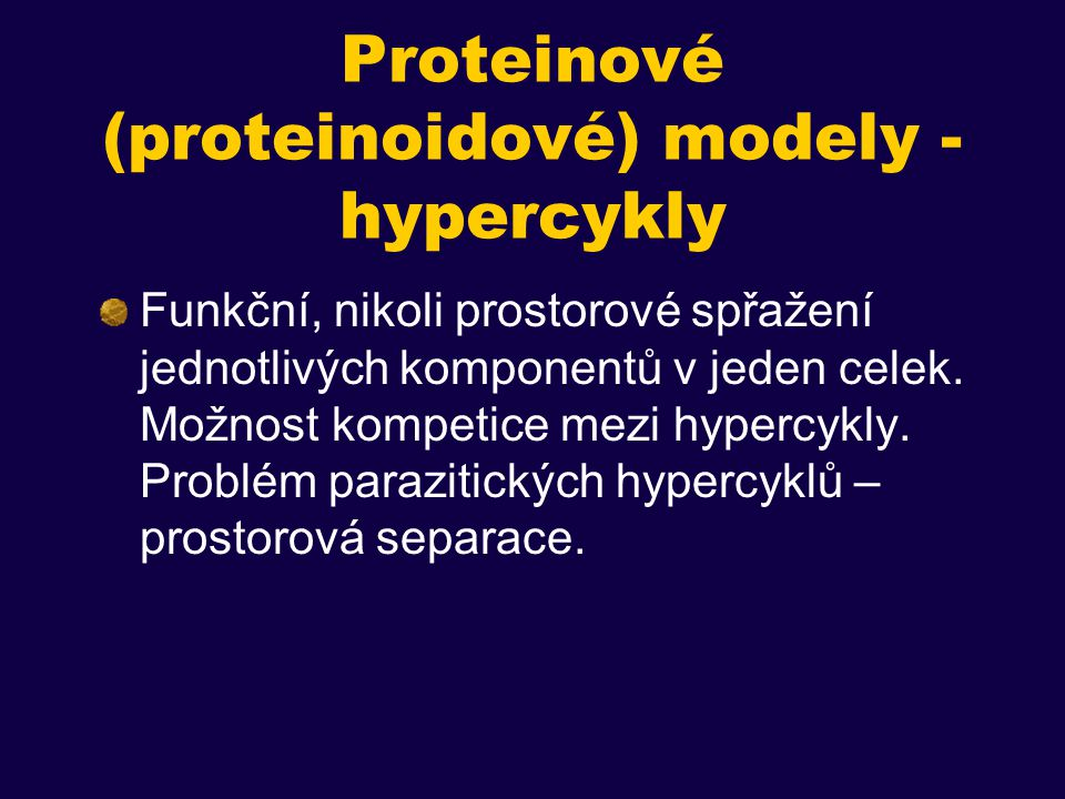 Proteinové (proteinoidové) modely - hypercykly