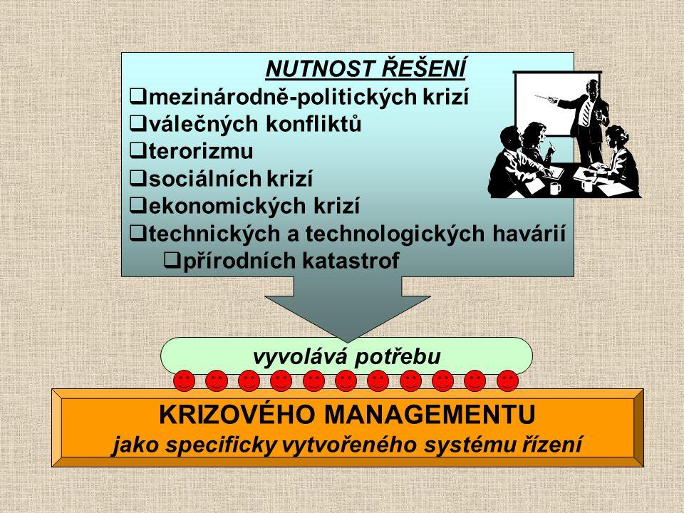 KRIZOVÉHO MANAGEMENTU jako specificky vytvořeného systému řízení