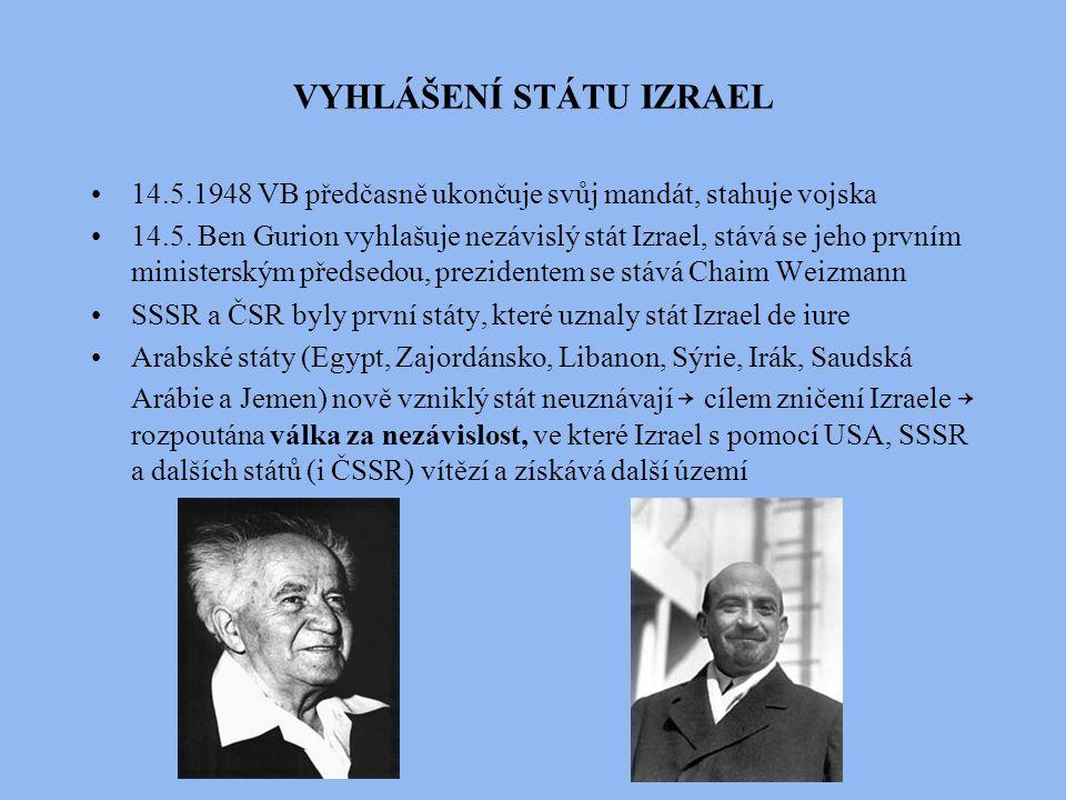 VYHLÁŠENÍ STÁTU IZRAEL