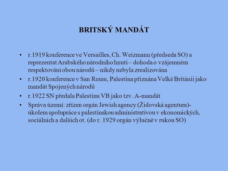 BRITSKÝ MANDÁT