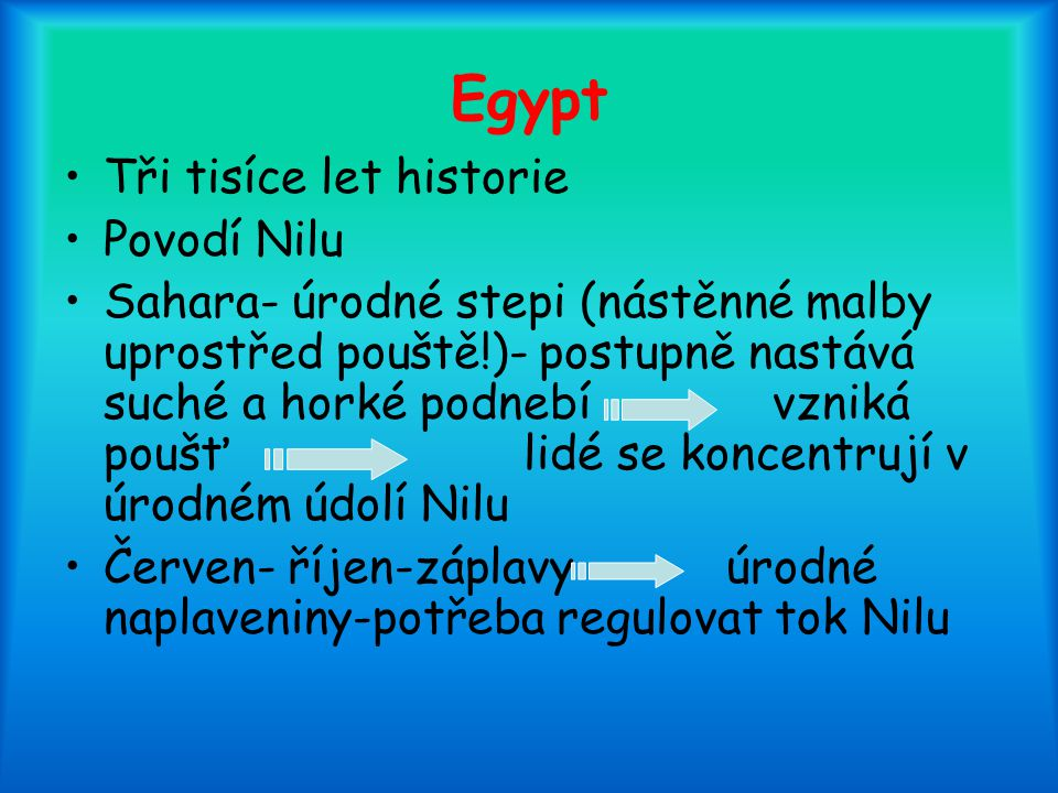 Egypt Tři tisíce let historie Povodí Nilu
