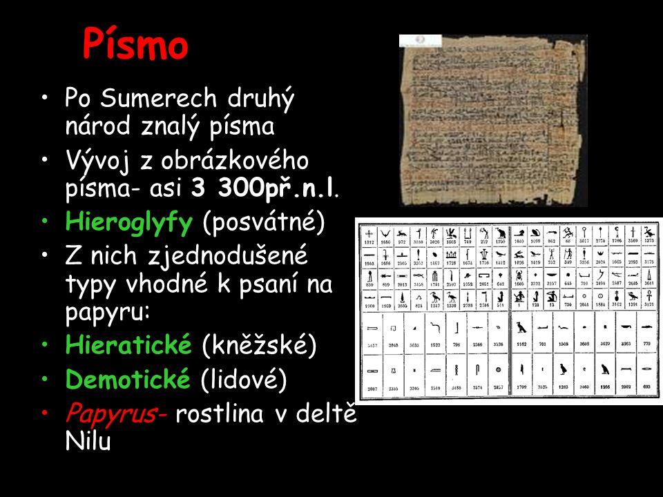 Písmo Po Sumerech druhý národ znalý písma
