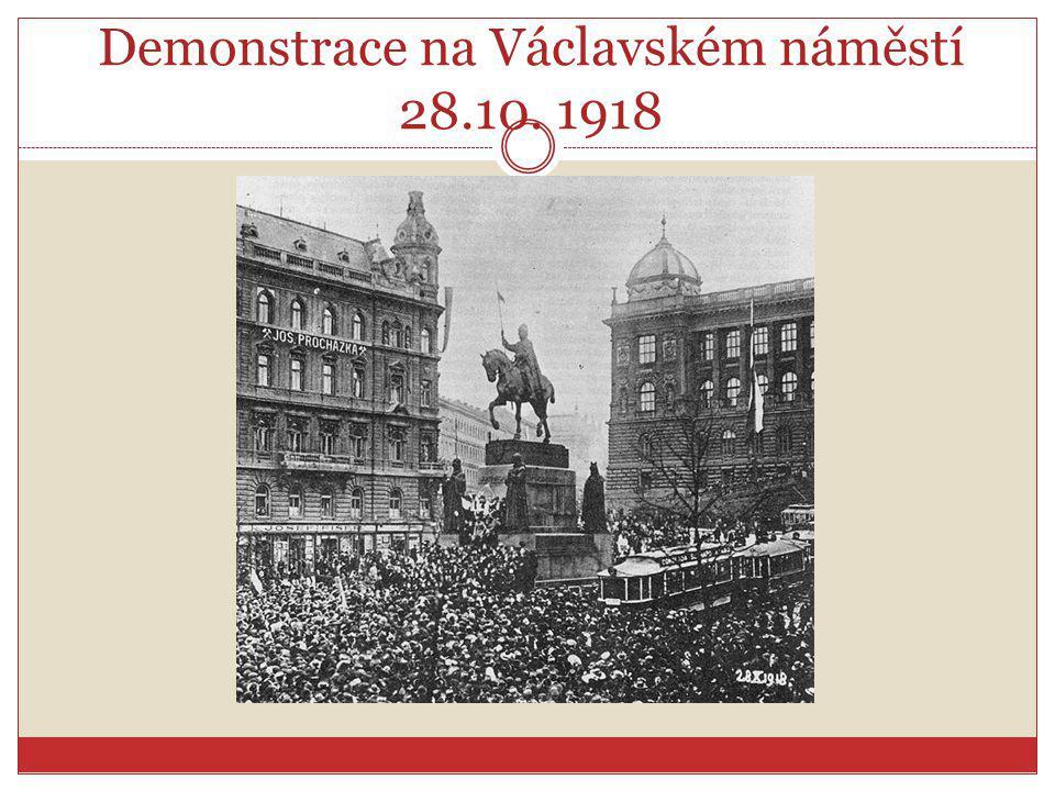 Demonstrace na Václavském náměstí 28.10. 1918