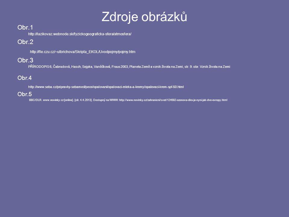 Zdroje obrázků Obr.1. http://lazikovaz.webnode.sk/fyzickogeograficka-sfera/atmosfera/ Obr.2.