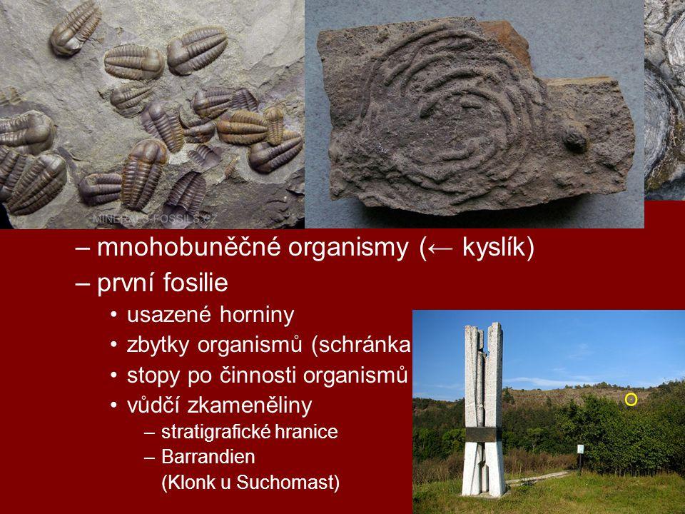 geologická období starohory (2,5 – 0,5 mld)