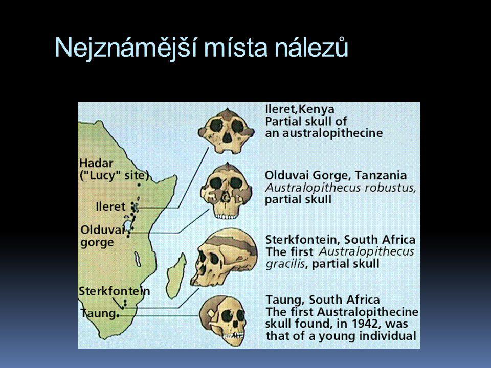 Nejznámější místa nálezů