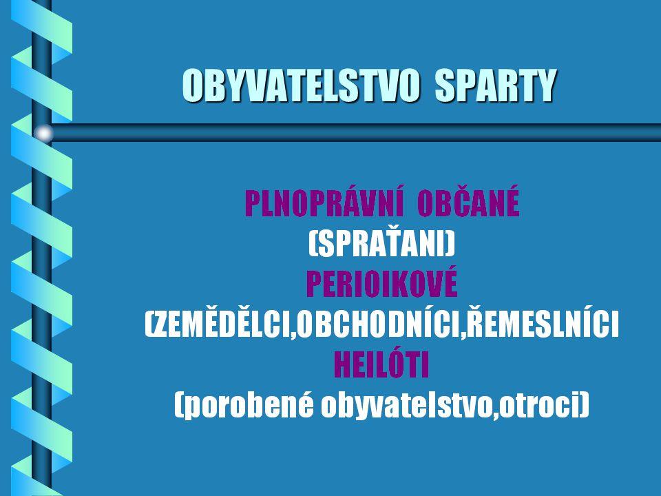 OBYVATELSTVO SPARTY